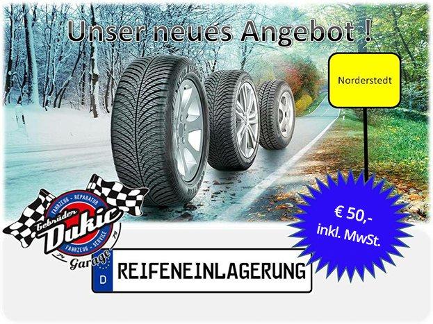 Angebot: Reifeneinlagerung